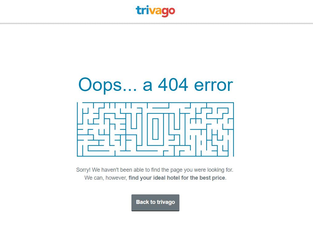 Errore 404 Trivago