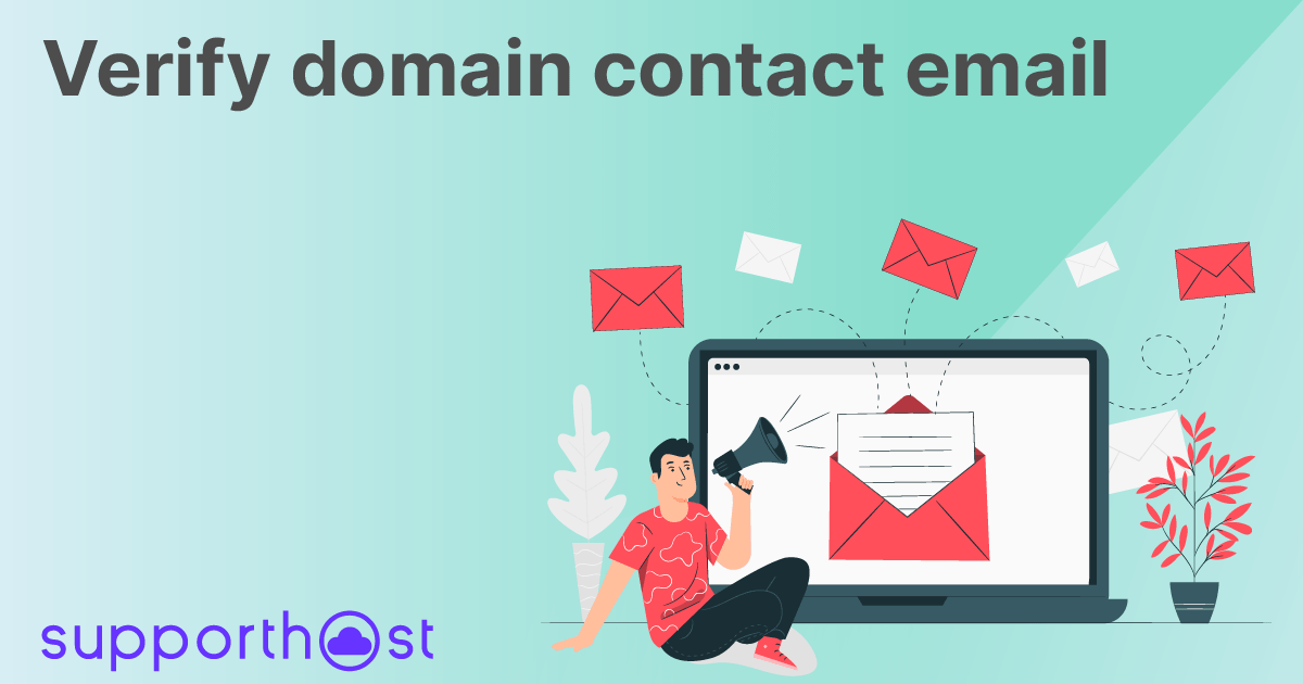 Verify domain contact email
