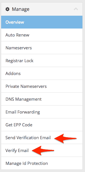 domain email verification SupportHost
