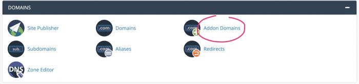 Supporthost Addon Domain