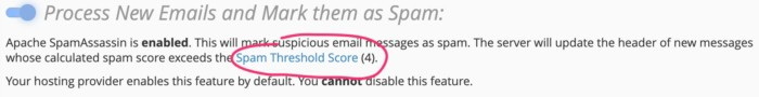 Supporthost Spam Score Spamassin