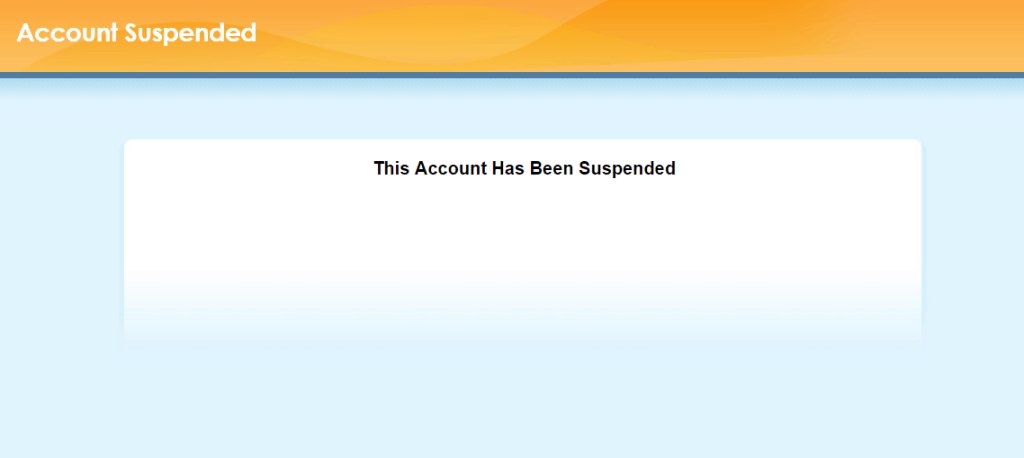 supporthost tutorial account suspended