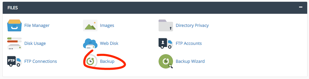 supporthost tutorial cpanel backup