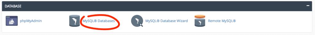 supporthost tutorial databse mysql