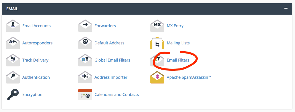 supporthost tutorial email filters