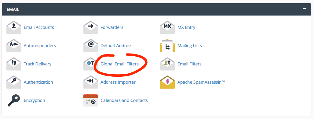 supporthost tutorial global email filters