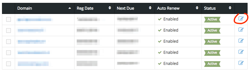 supporthost tutorial select domain clientarea