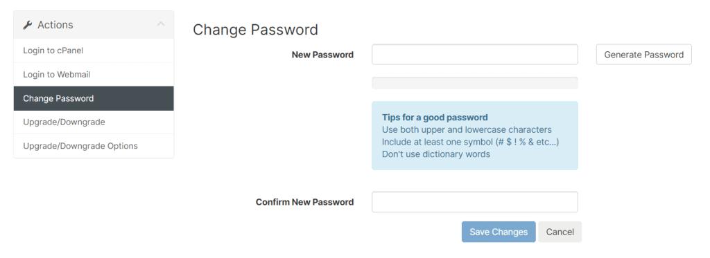 Choose New Password