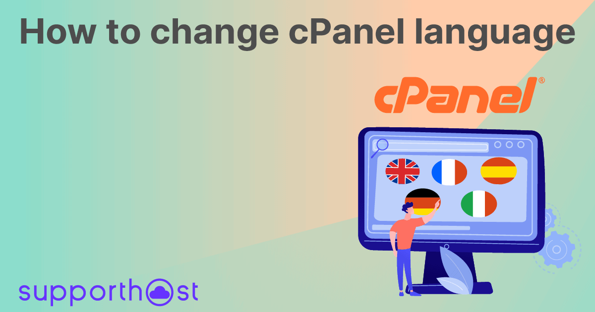 How to change cPanel language