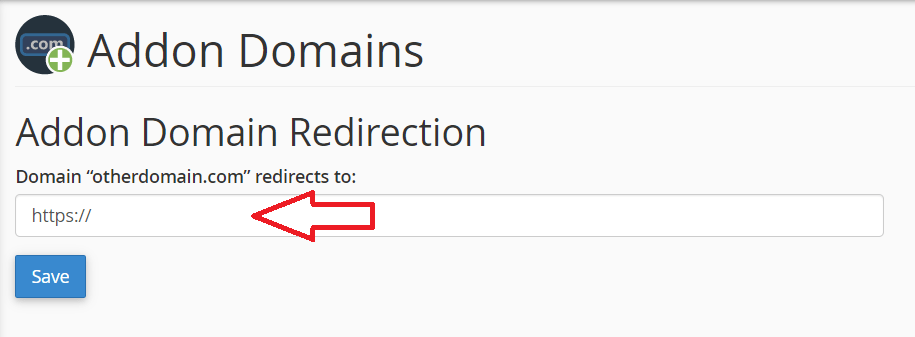 Redirect Addon Domain