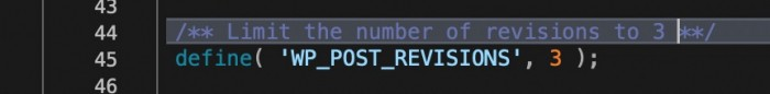 Limit Max Revisions