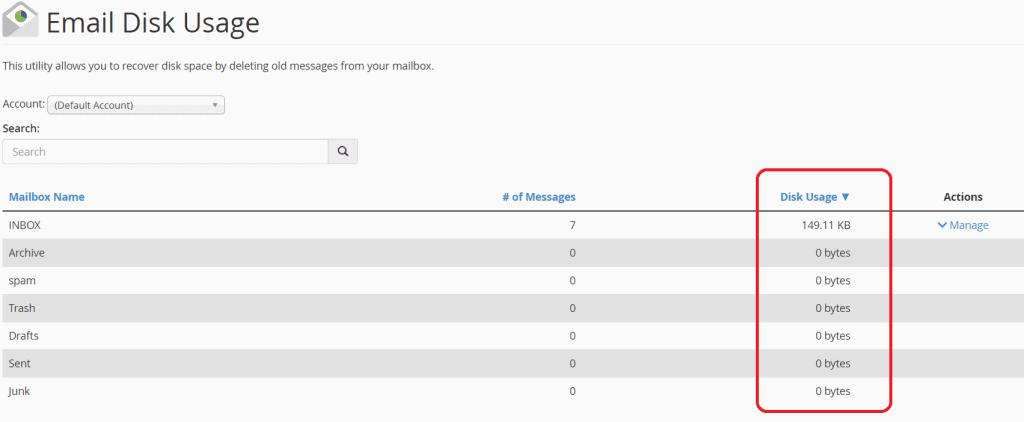 Mailbox Disk Usage