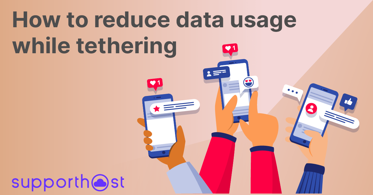 How to reduce data usage while tethering