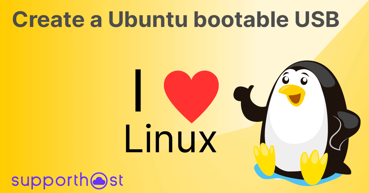 Create a Ubuntu bootable usb