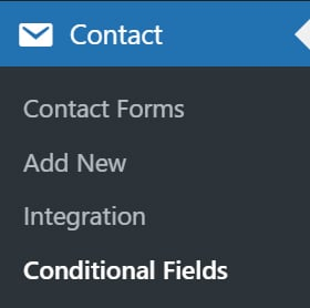 Contact Form 7 Conditional Field Settings