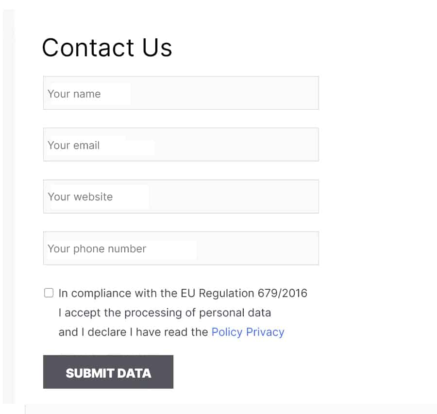 Contact Form 7 Privacy Policy