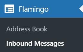 Contact Form Flamingo Sidebar