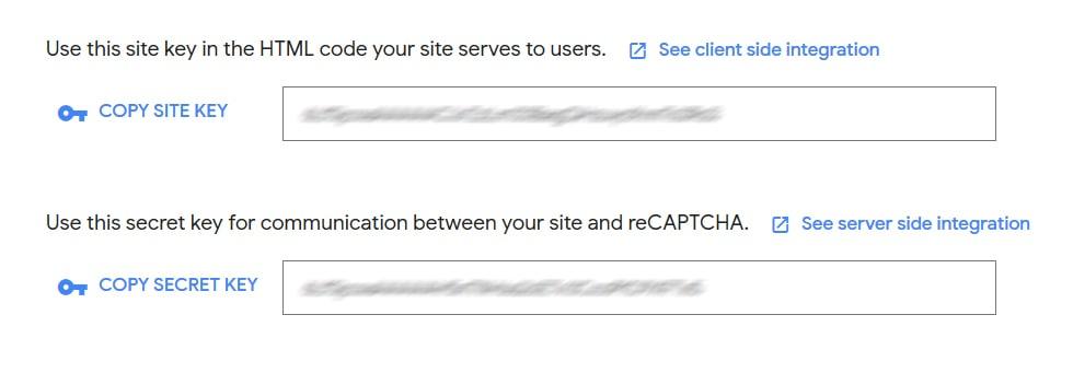 Contact Form Recaptcha Site Key