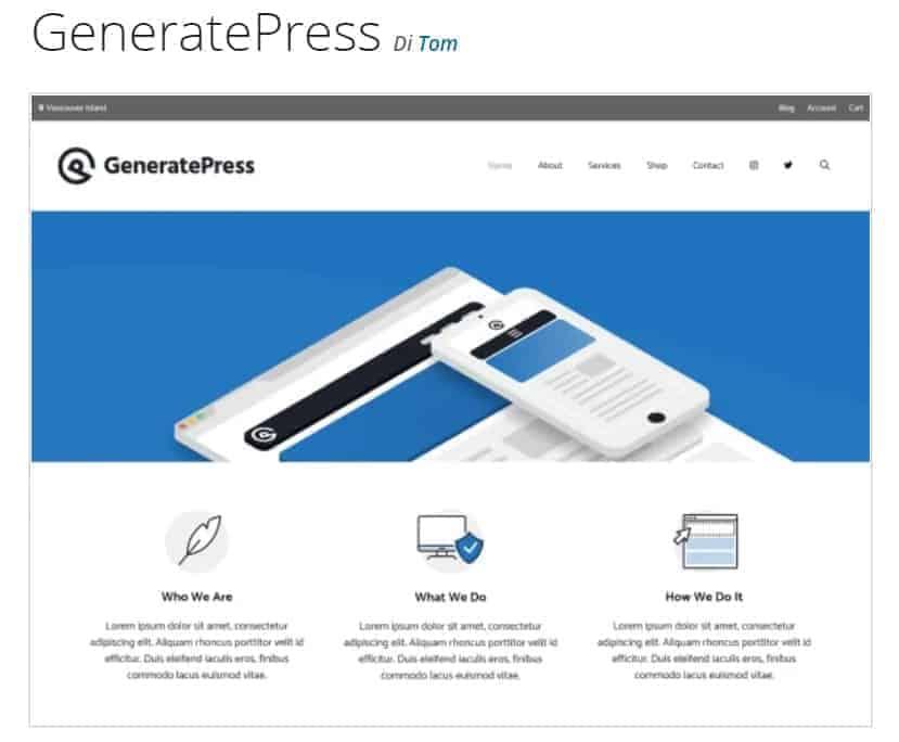 Elementor Theme Generatepress