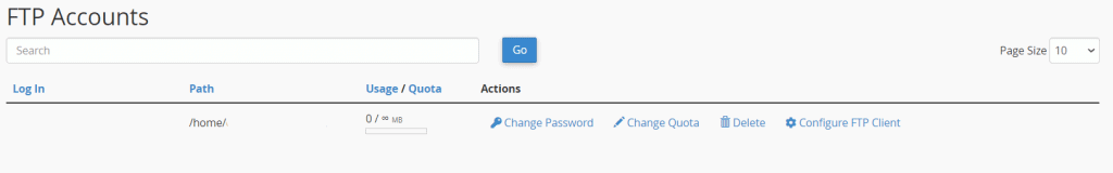 Manage Ftp Accounts