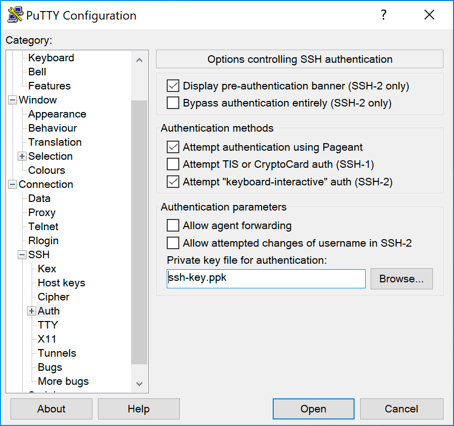 Ssh Connection Access Windows Putty