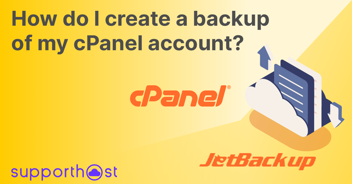 How do I create a backup of my cPanel account?