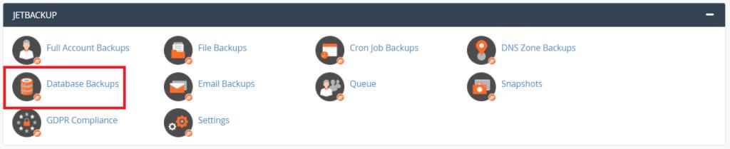Database Backups Jetbackup