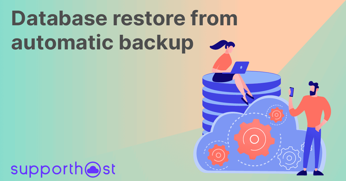 Database restore from automatic backup