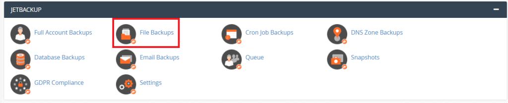 Jetbackup File Backup