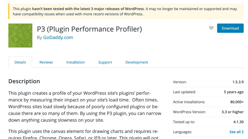 Plugins Slow Down WordPress P3 Performance Profiler