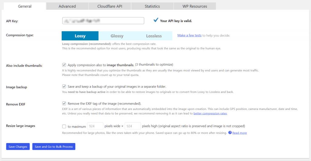 Wordpress Image Optimizer Shortpixel Basic Configuration