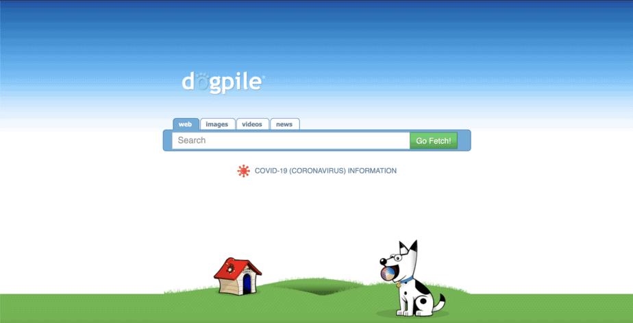 Alternative Search Engine Dogpile