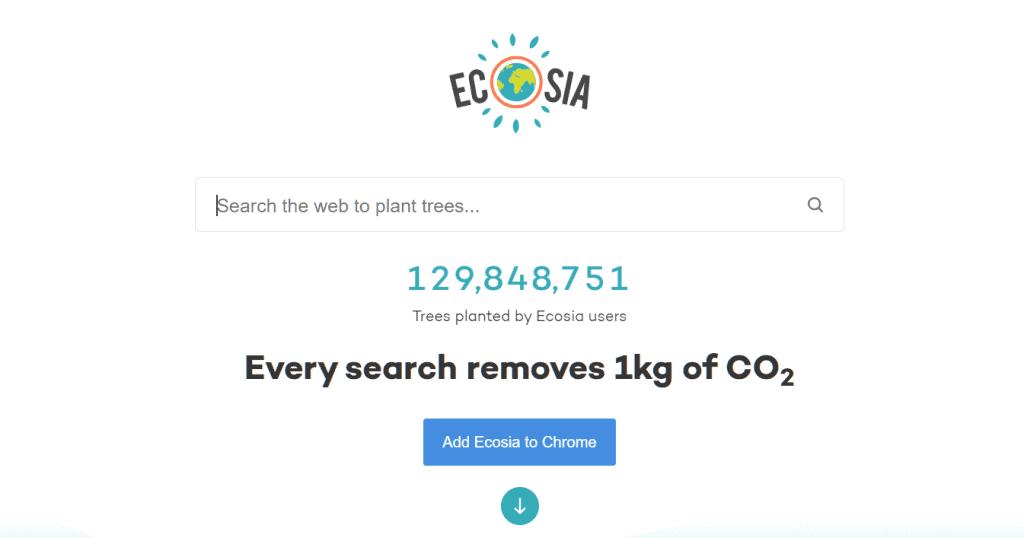Alternative Search Engine Ecosia