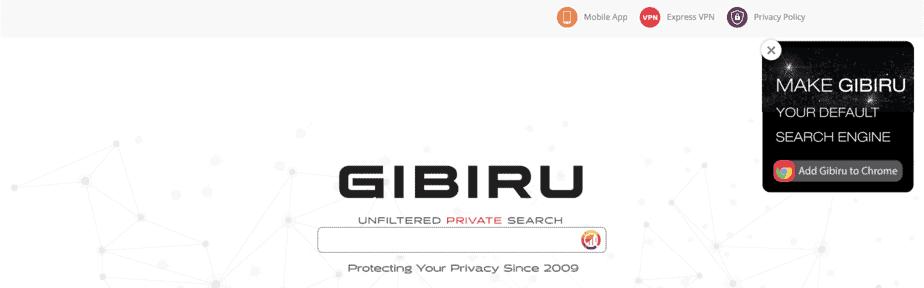 Alternative Search Engine Gibiru