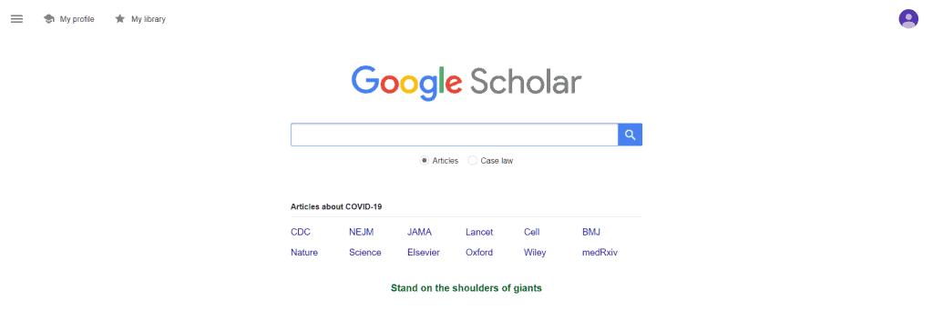 Alternative Search Engine Google Scholar