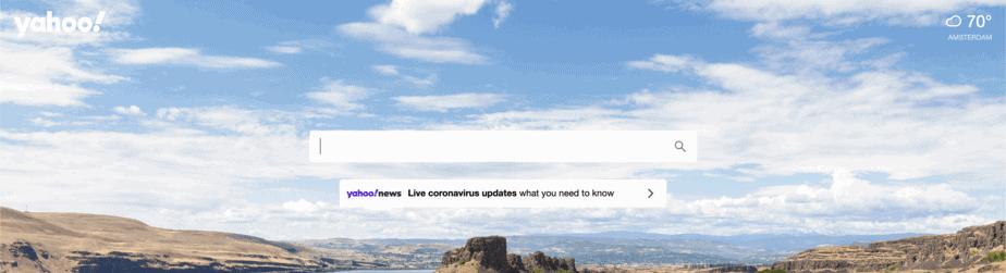Alternative Search Engine Yahoo
