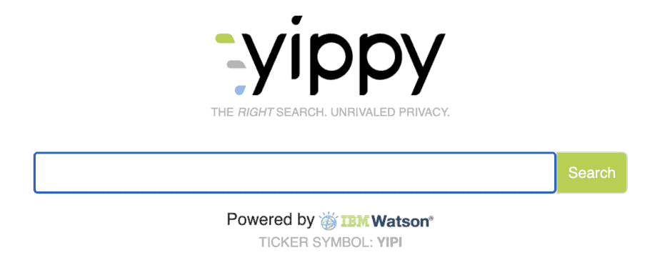 Alternative Search Engine Yippy