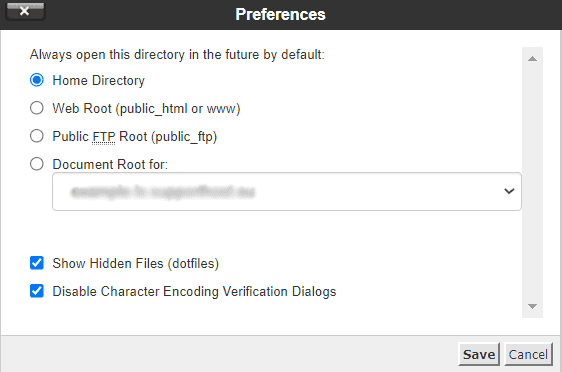 File Manager Disable Character Encoding Verification Dialogs
