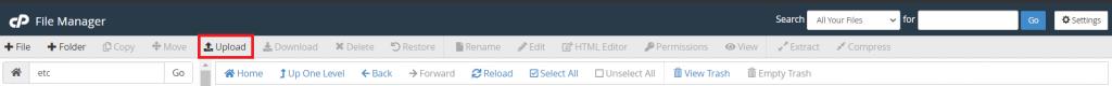 File Manager Upload File