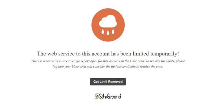 Siteground Alternative Account Limited Temporarily