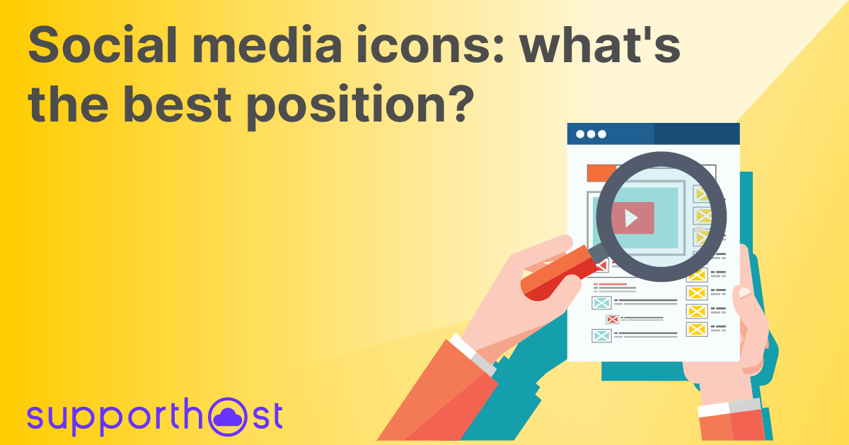Social media icons: what's the best position?