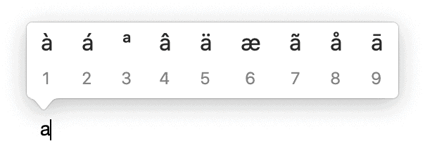 Special Characters Accented Characters Macos
