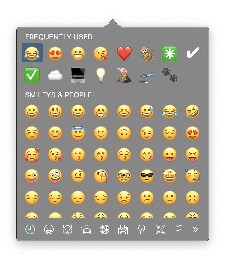 Special Characters Emoji Mac