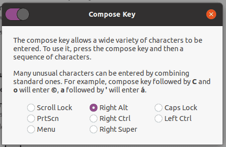 Special Characters Linux Compose Key