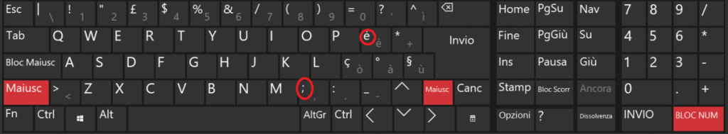 Special Characters Shift
