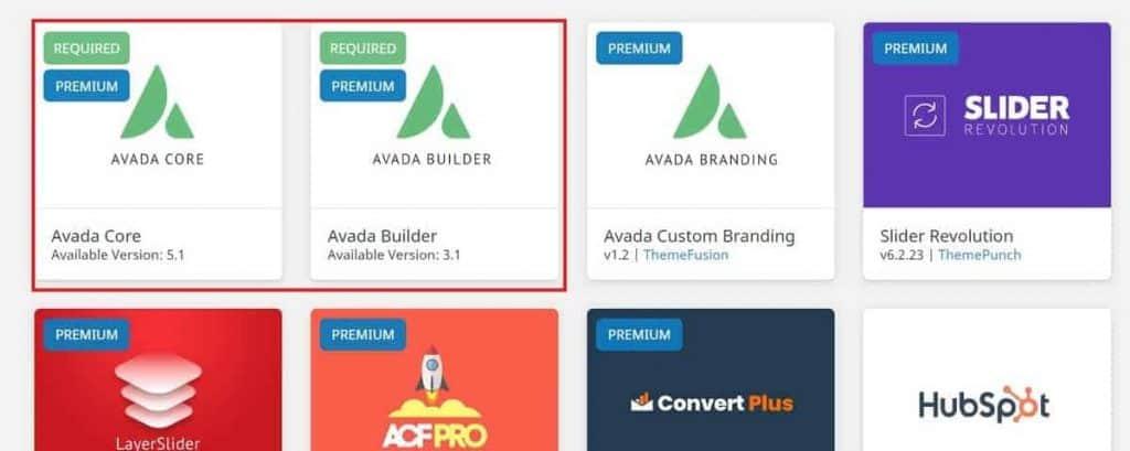 Avada Activate Required Plugins