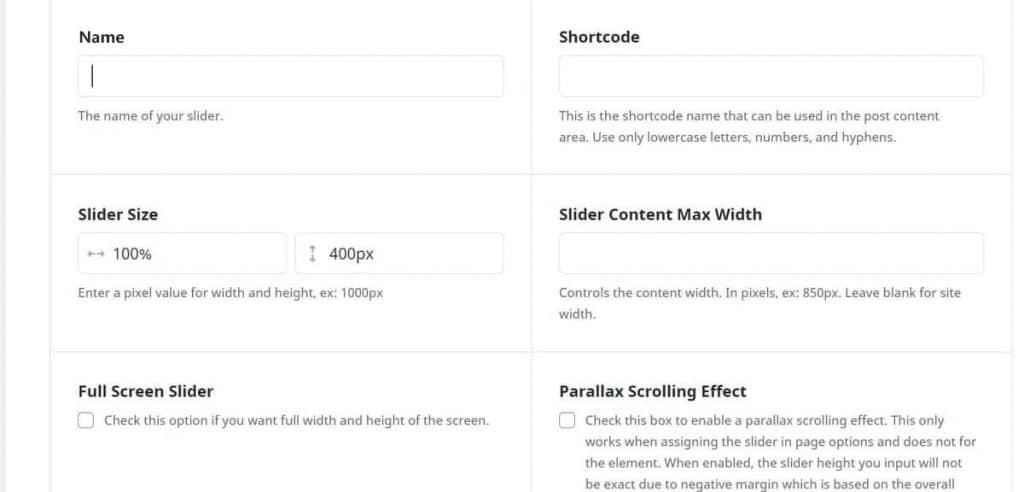Avada Create Slider