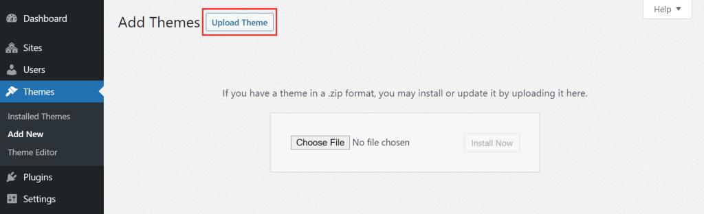 Avada Upload Theme WordPress