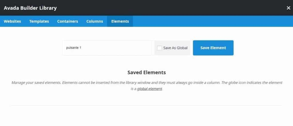 How To Save Element Library In Avada