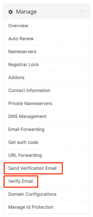 Supporthost Verify Domain Email